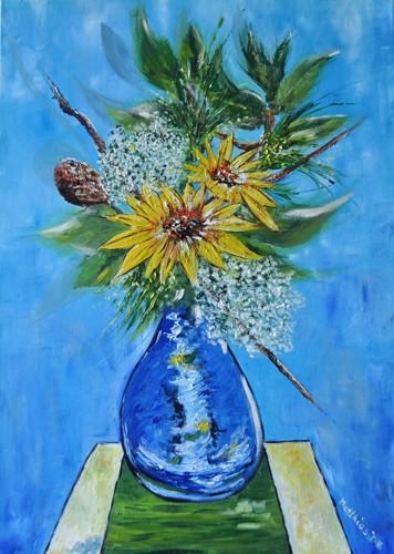 Sunflower Ikebana