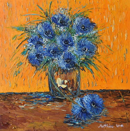 Cornflowers in Vase