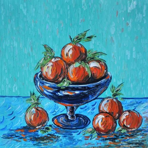 Oranges in Vintage Bowl