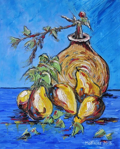 Pears with Vase