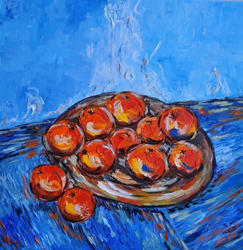 Mandarin oranges on plate