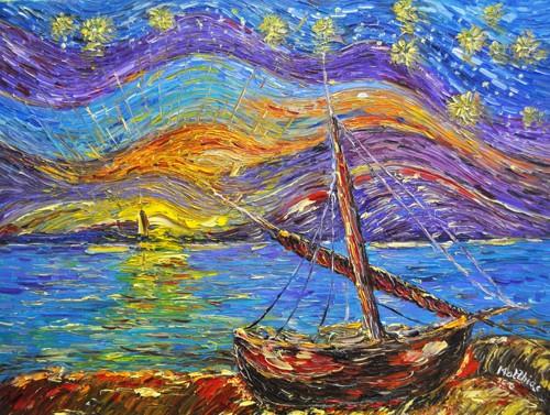 Sailing Boat at Twilight