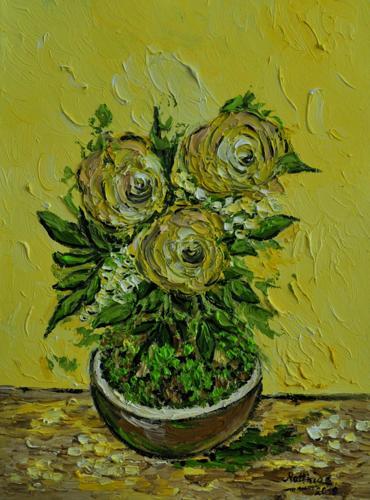 Yellow Rose Bonsai
