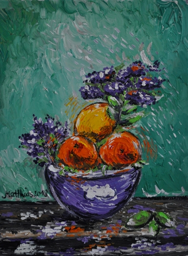 Oranges and Lemons in Bowl
