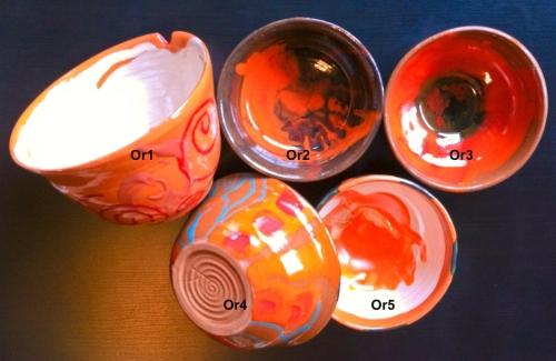 Orange-colored Bowls