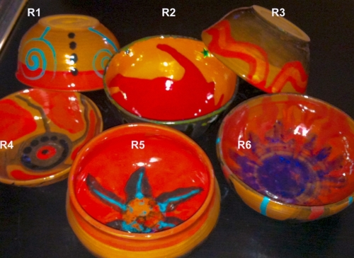 Red-colored Bowls