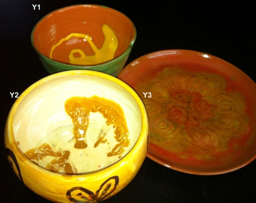 Yellow-colored Bowls/Plates