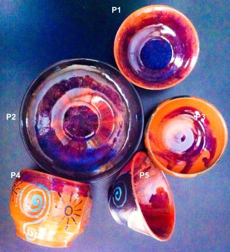 Purple-colored Bowls