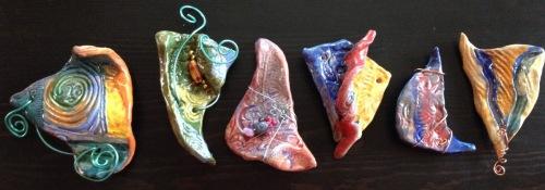 Abstract Ceramic Pins