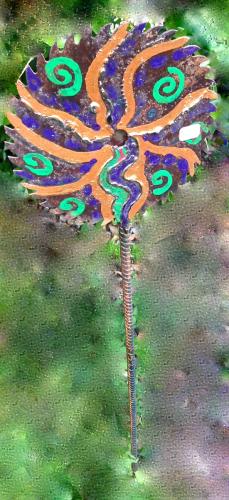 Whirligig Saw Garden Stake