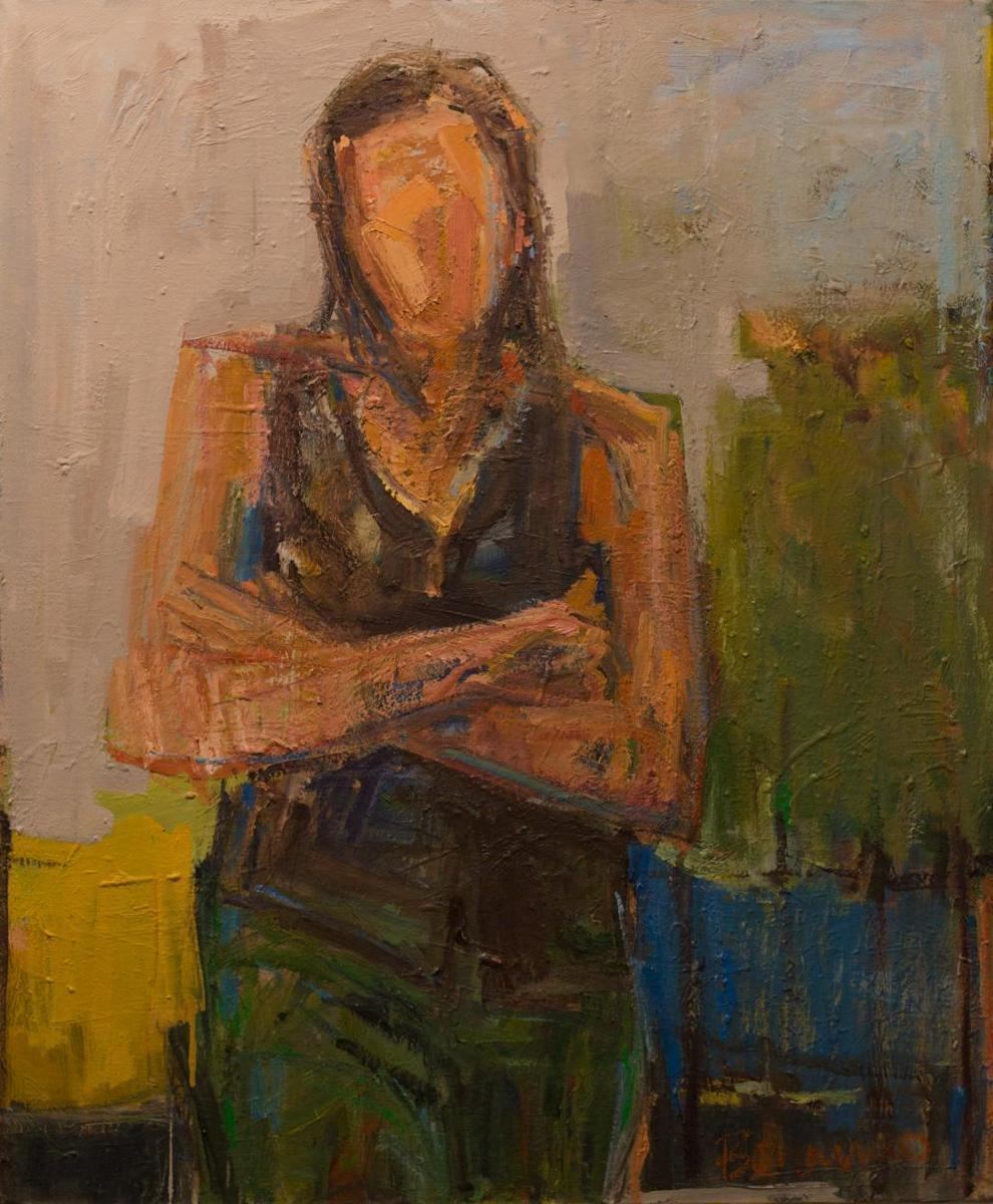 Woman With Folded Arms (large view)