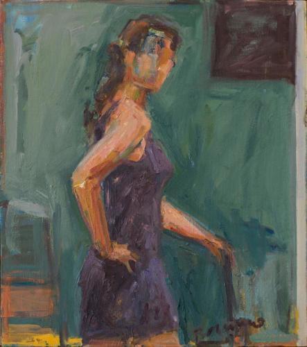 Woman In Aubergine