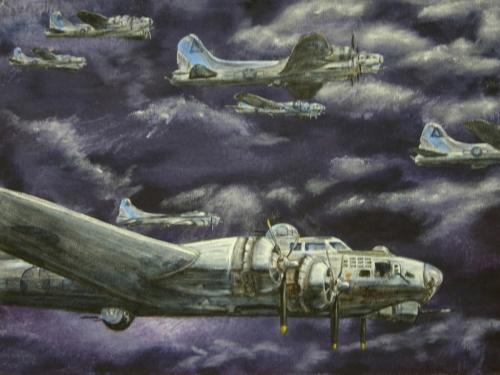 B17 BOMBERS by Karen Peterson