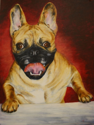 FRENCHIE WITH A SMILE by Karen Peterson
