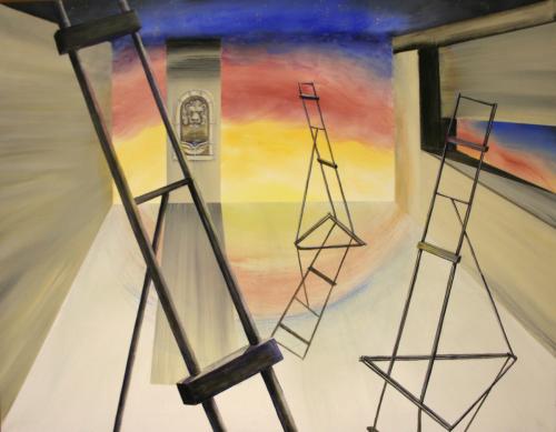 Artroom Surrealism (P.O.D.) by Karen Peterson Art