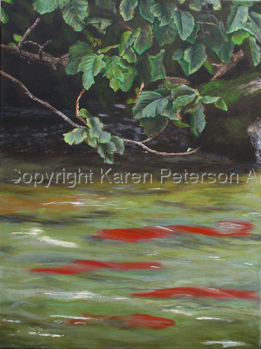 RUSSIAN RIVER SALMON by Karen Peterson
