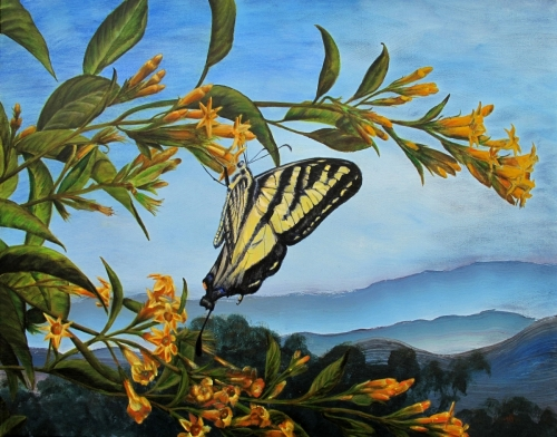 SWALLOWTAIL BUTTERFLIES BY KAREN PETERSON