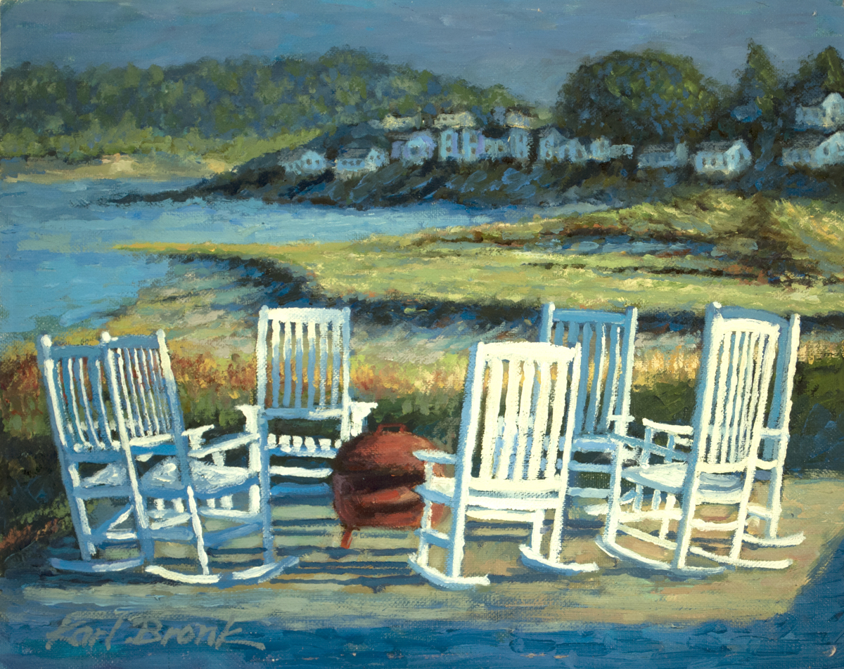Sun Setting on Cape Cod Chairs (large view)