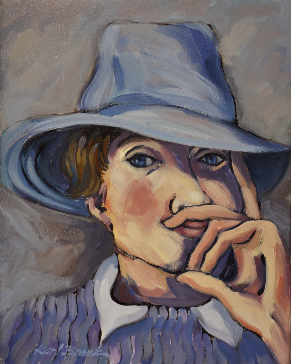 Woman in Blue Hat (large view)