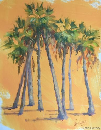 Palm Tree Study on Paper