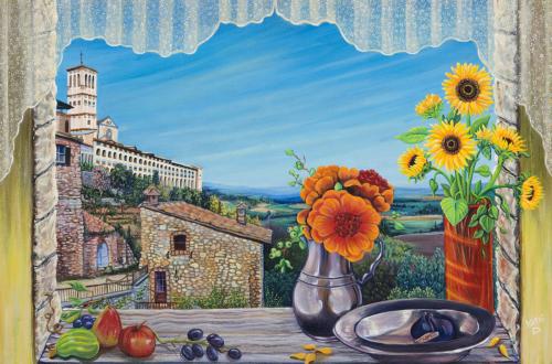 Aunt Mary's Italian Kitchen Window by Kathi Dugan