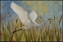Snowy Egret in Flight (thumbnail)