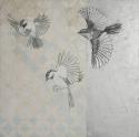 Painting--Acrylic-AbstractChickadees Alighting
