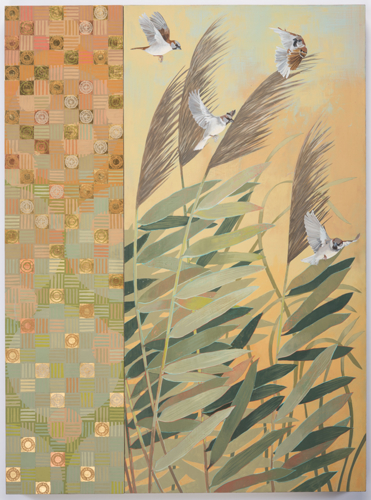 Sparrows and Phragmites