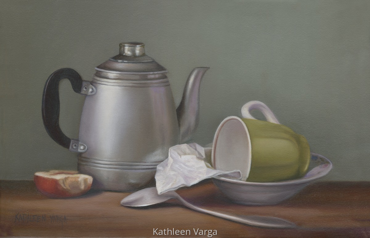 """PEWTER TEA POT"" (large view)"
