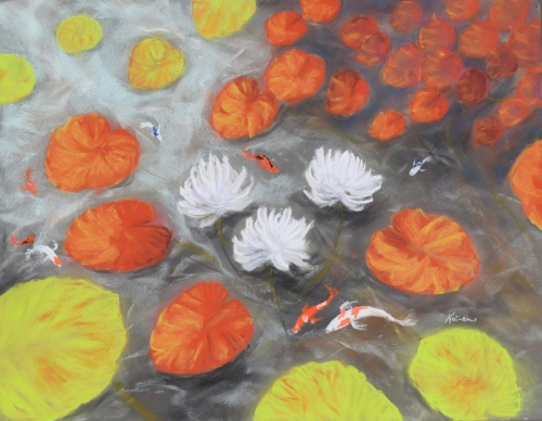 Pond in Autumn by Katharine Holmquest Poole