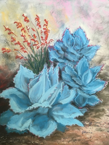 Cactus and Kangaroo Paw by Katharine Holmquest Poole