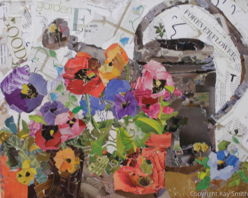 Bloomsday Pansies Collage