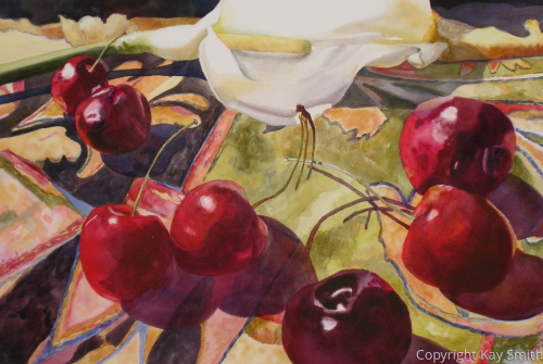 Calla with Cherries