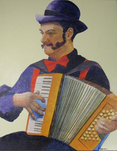 Madrid Street Musician II by Kathi Baron