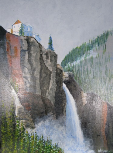 Pumphouse Falls Telluride by Kathi Baron