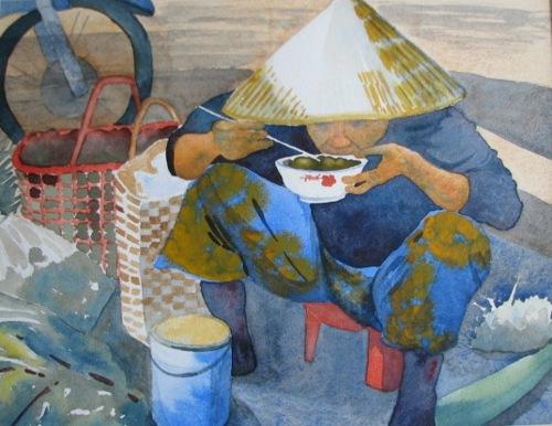 Lunch Break Viet Nam by Kathi Baron
