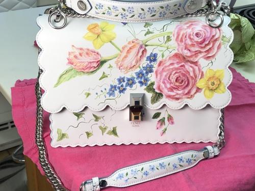 Hand painted FENDI purse