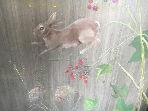 Rabbit Bench closeup