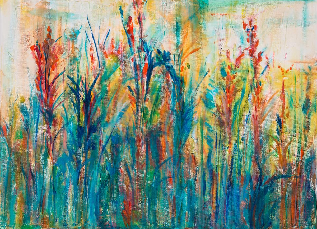 Impressionist Acrylic Paintings: Nature Ramble by Kanak Bhasin