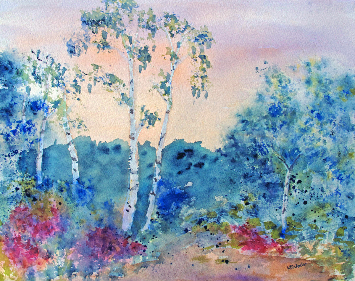 Sally's Birches (large view)