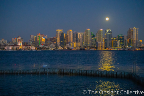 Moonrise Over Downtown San Diego