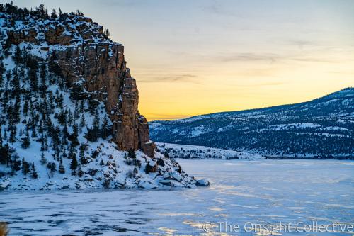 Frozen Cliff Landscape