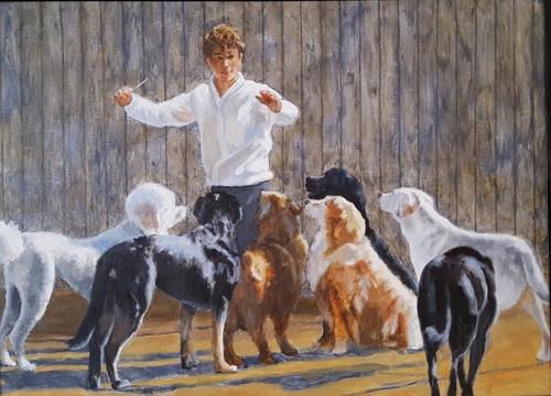 Teddy Conducting Canine Riffs