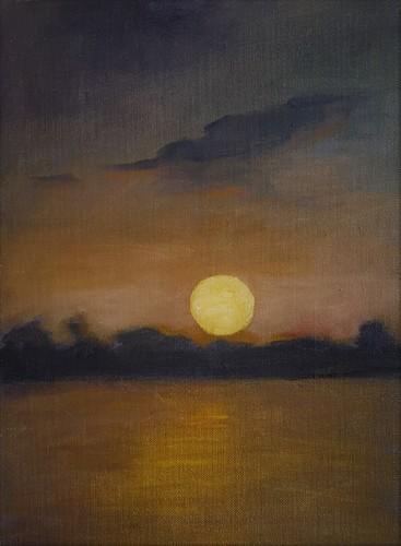Ohio River Moonrise