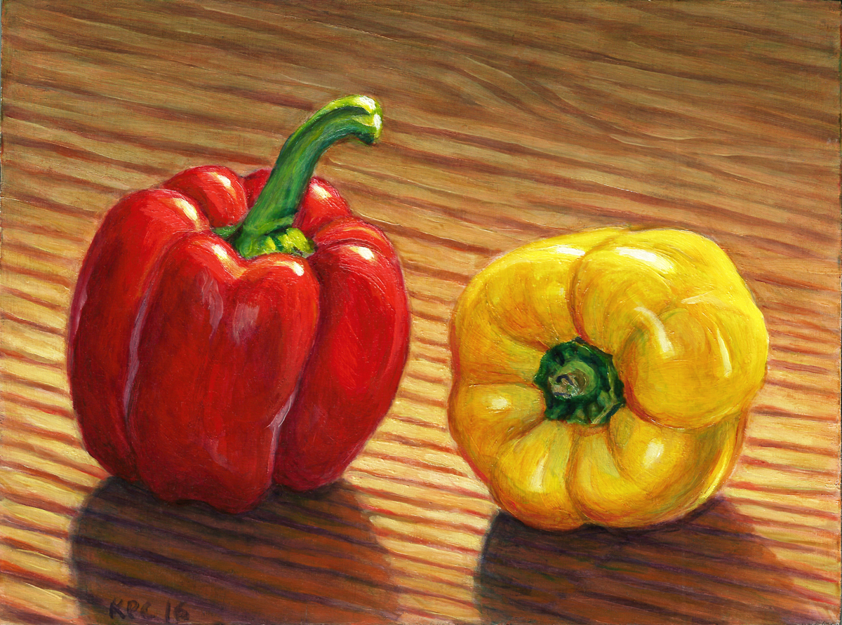 Red and Yellow Peppers (large view)