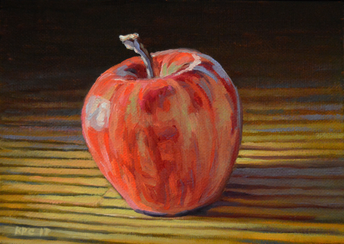 Apple.  Original Oil Painting on Canvas Board by Kenneth P. Cobb (large view)