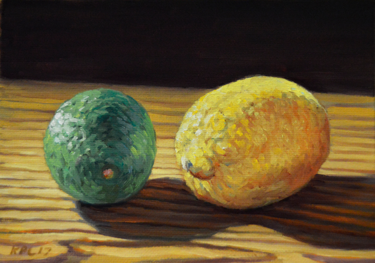 Lemon Lime.  Orignal Oil Painting by Kenneth P. Cobb (large view)