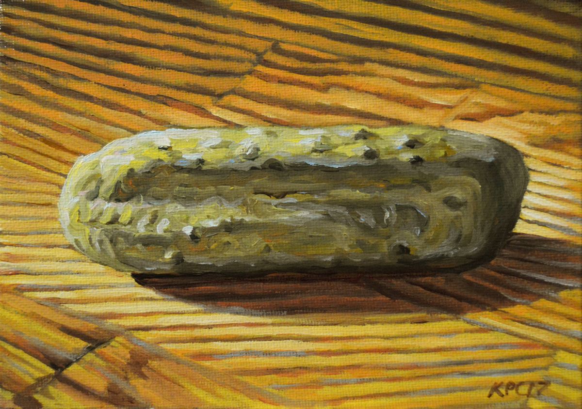 Pickle.  Original Oil Painting by Kenneth P. Cobb. (large view)