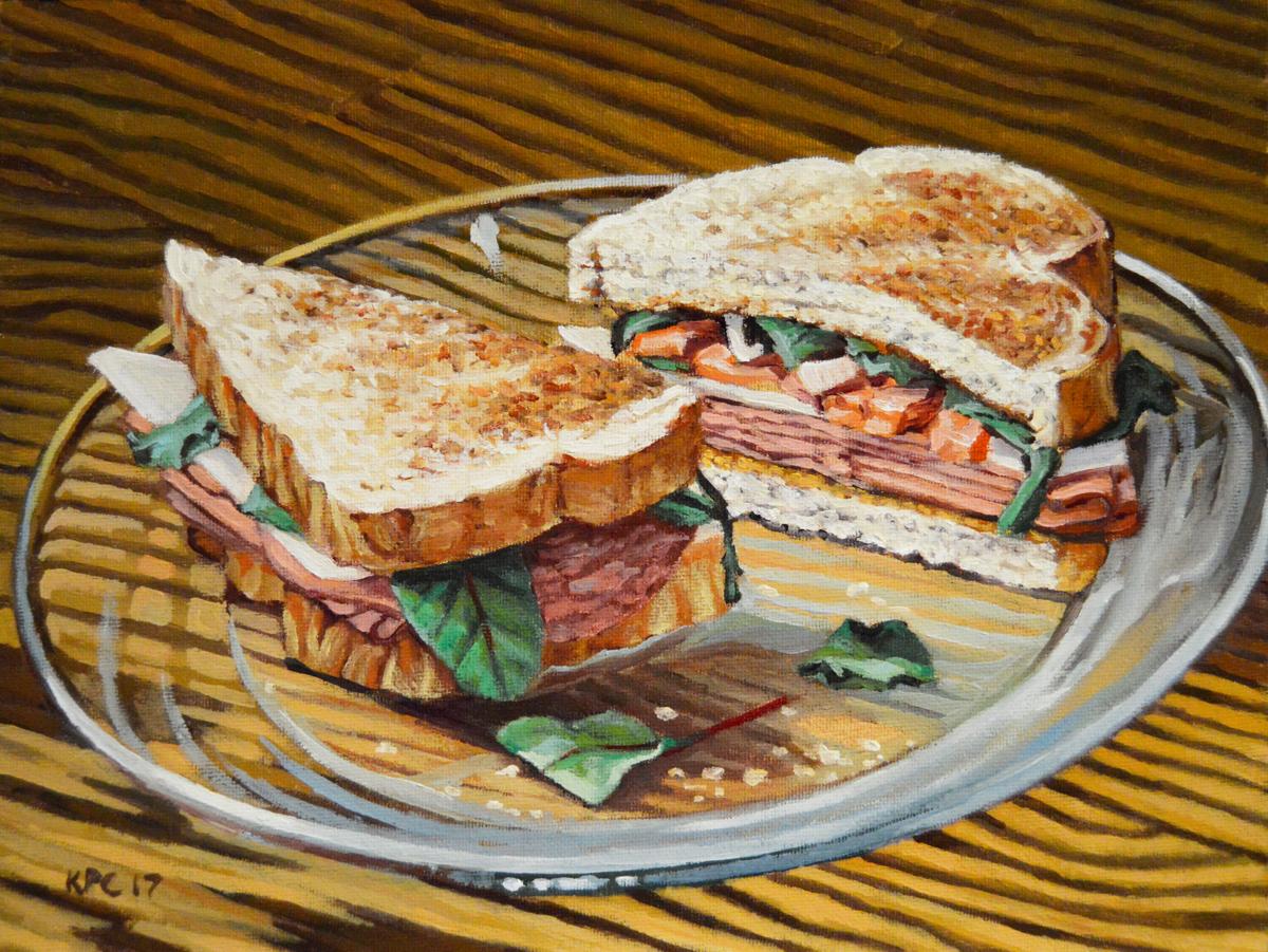 Ham and Salami Sandwich (large view)