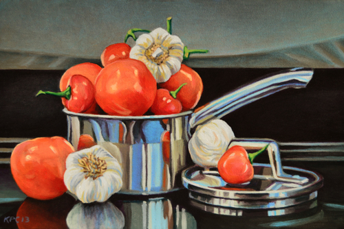 Tomato, Pepper and Garlic (large view)